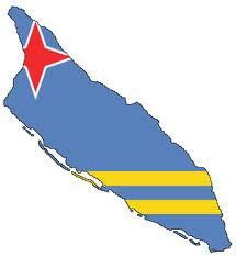 Aruba, Flag map