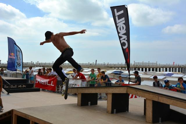 Skateboarding O'Neill Beach Club Blankenberge