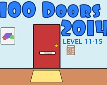 100 doors 2014 game level 11 12 13 14 15 for 100 doors 2 door 11