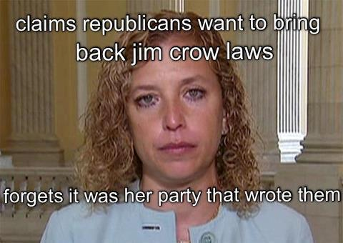 Debbie Wasserman Schultz jim crow laws