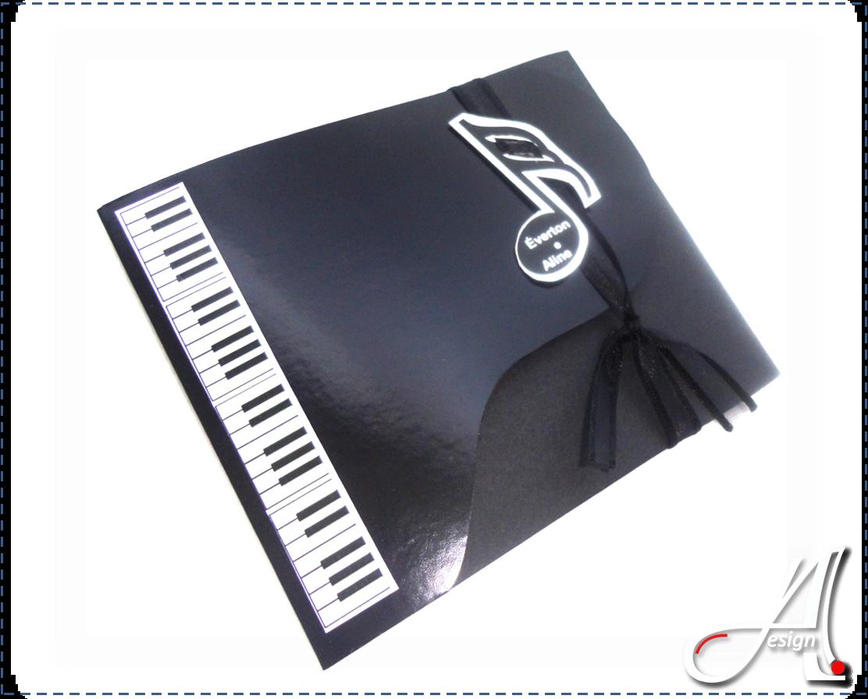 convite Piano  Tags com nome Notas Musicais  Convite Partitura