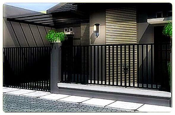 17 Gambar Model Pagar Rumah Minimalis   DesainIC