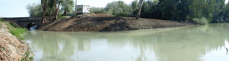 Confluencia del arroyo Buitrago y el río Guadalete (septiembre 2011)
