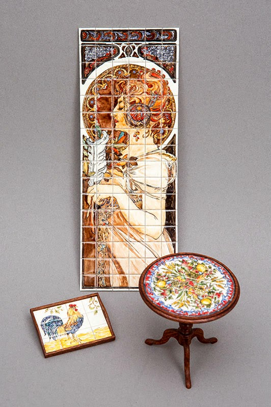 Good sam showcase of miniatures february 2015 for Art nouveau tile mural