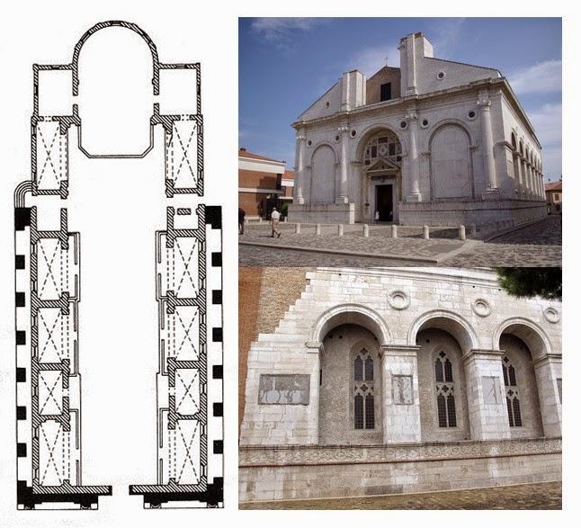 Pillole d 39 arte l b alberti tempio malatestiano 1450 ca rimini - Architetto rimini ...