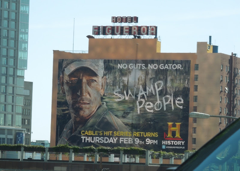 Giant Swamp People TV billboard
