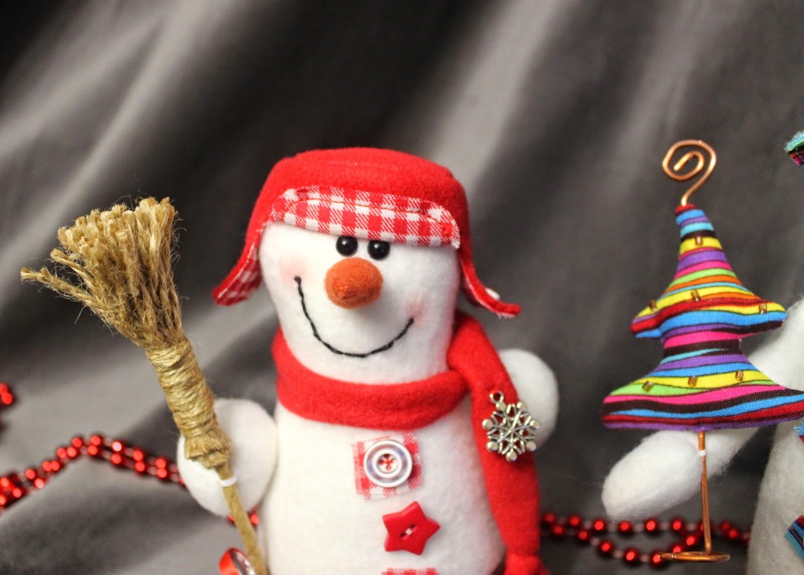 текстильный снеговик
