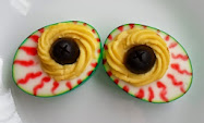 Halloween Deviled Eggs-4 ideas