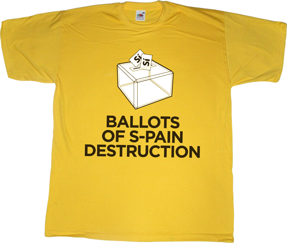 spain is different brand spain catalonia independence freedom referendum 9n war weapons of mass destruction useless spanish justice useless spanish politics useless spanish media useless kingdoms t-shirt ephemeral-t-shirts