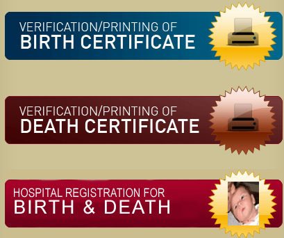 Birth & Death Certificate Verfication / Printing (Chennai) - VSolution