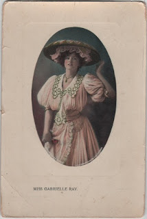 Vintage postcard of Miss Gabrielle Ray