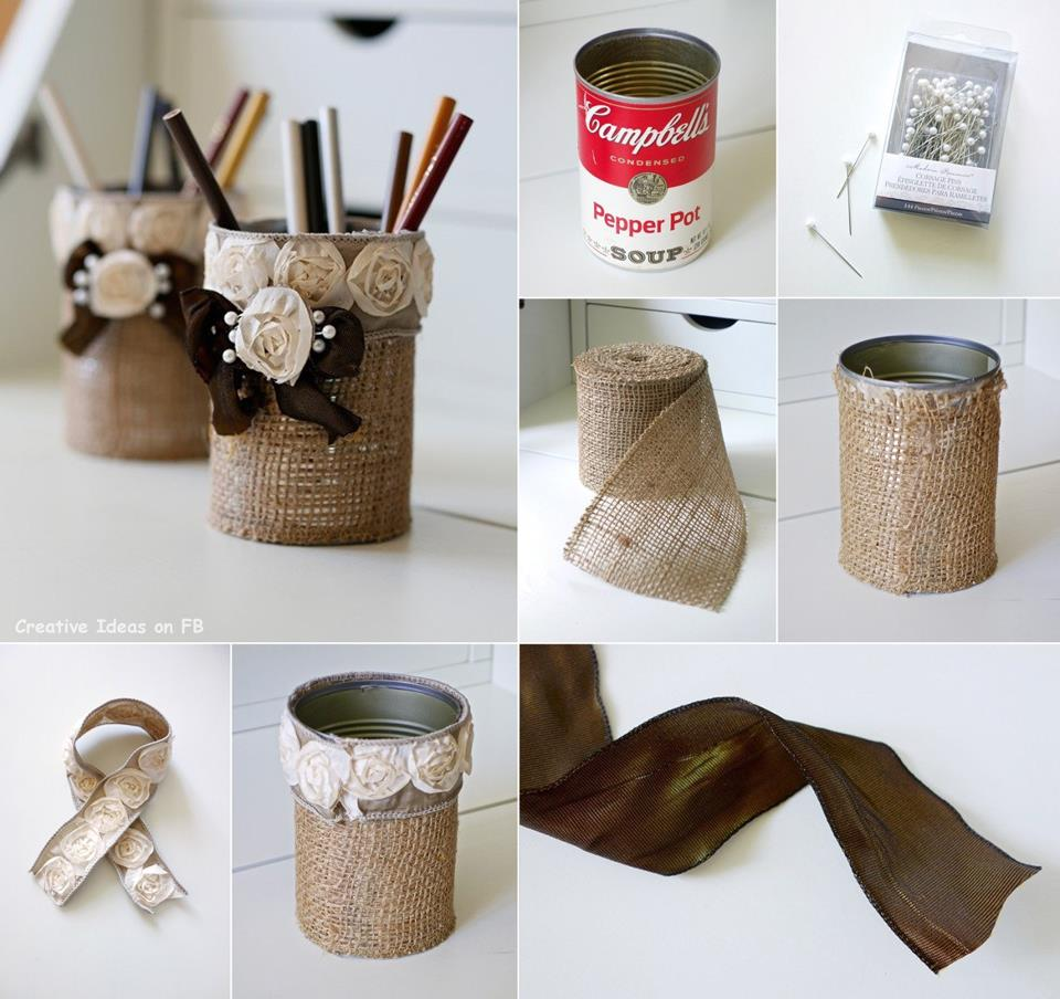 Amazing creativity creative ideas shabby chic burlap for Creative ideas from waste