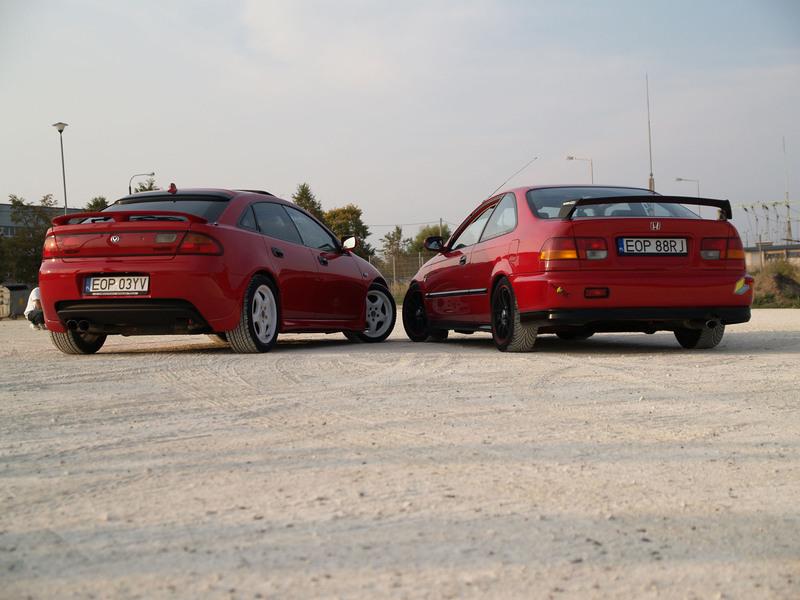 Mazda 323F BA & Honda Civic VI coupe, samochody z Polski, tuning, cenione modele, fotki, zdjęcia, jdm