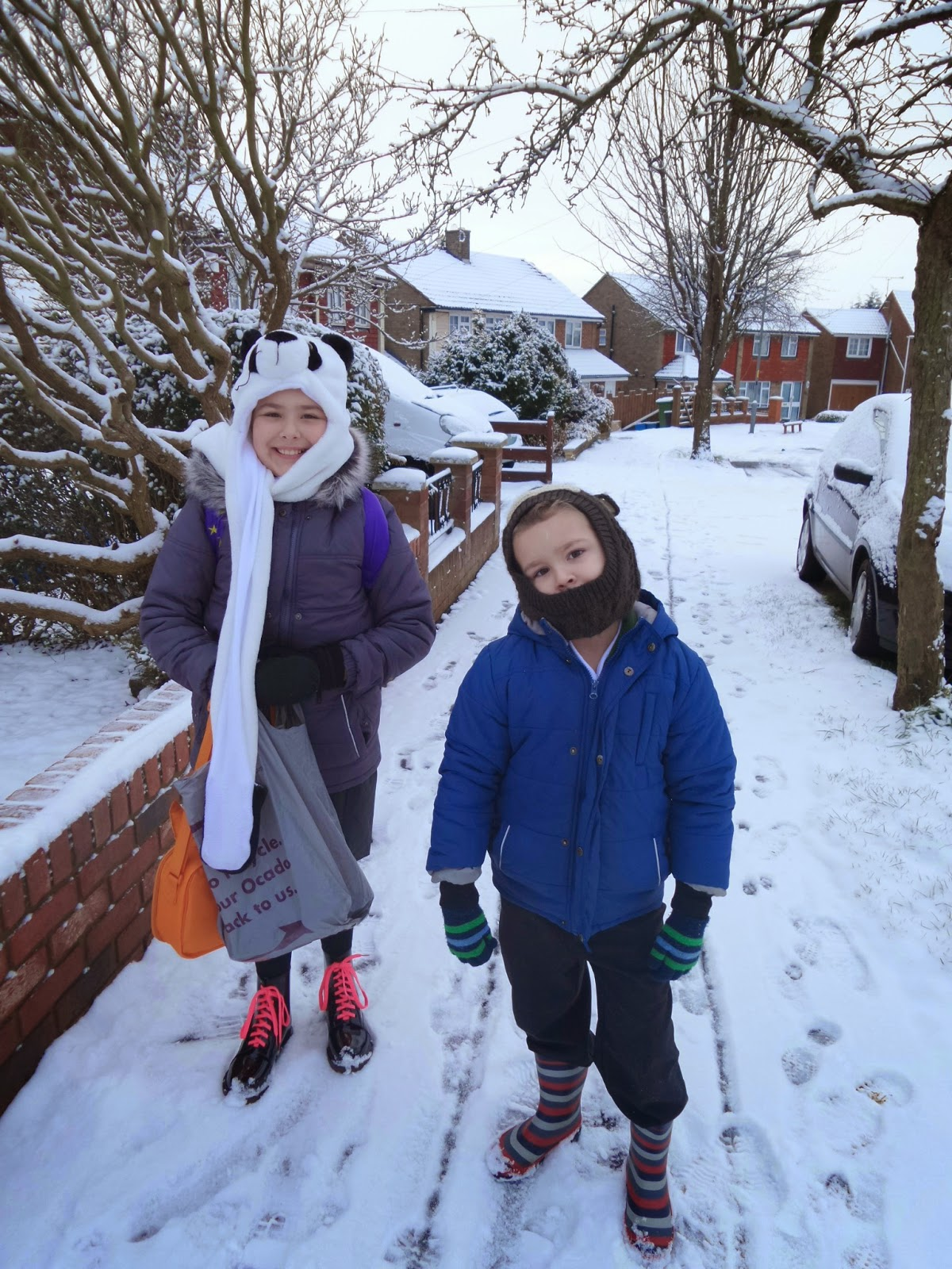 Snowy School Run Pictures