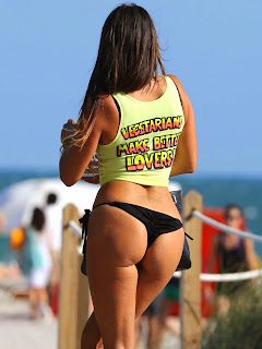 Claudia Romani the Thong Girl in lovely Black Thong and T Shirt MUST SEE Beauty