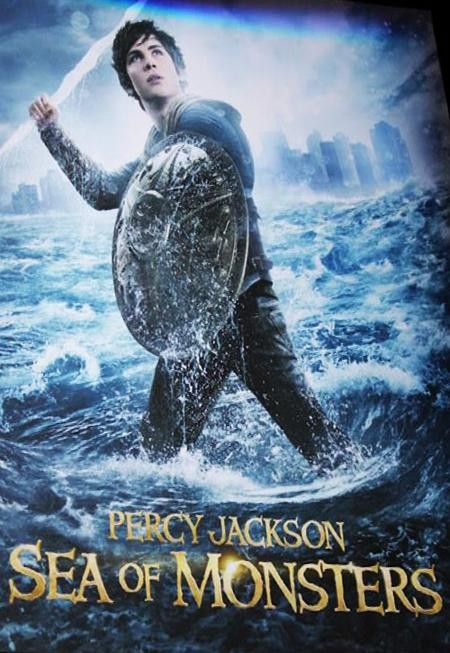 Percy Jackson: Sea of Monsters Movie Poster Featuring Logan Lerman