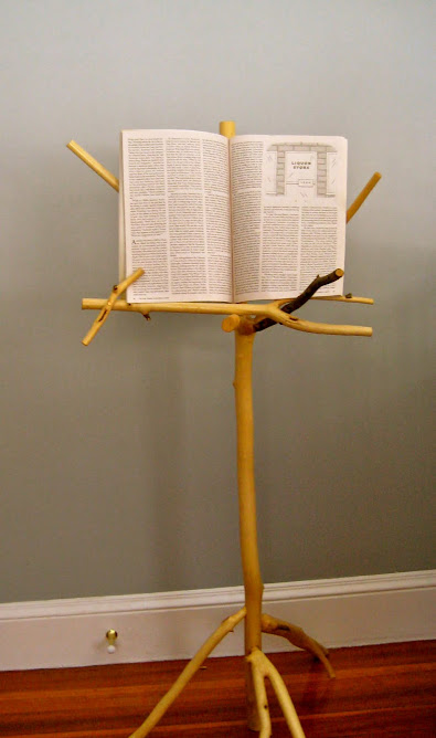 Peeled maple music stand