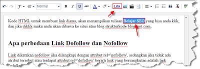 langkah-langkah membuat link pada blog