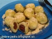 Tvarohové guľky s čerešňami - recept