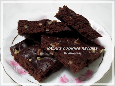 300th Post - Microwave Brownies | Walnut Brownies