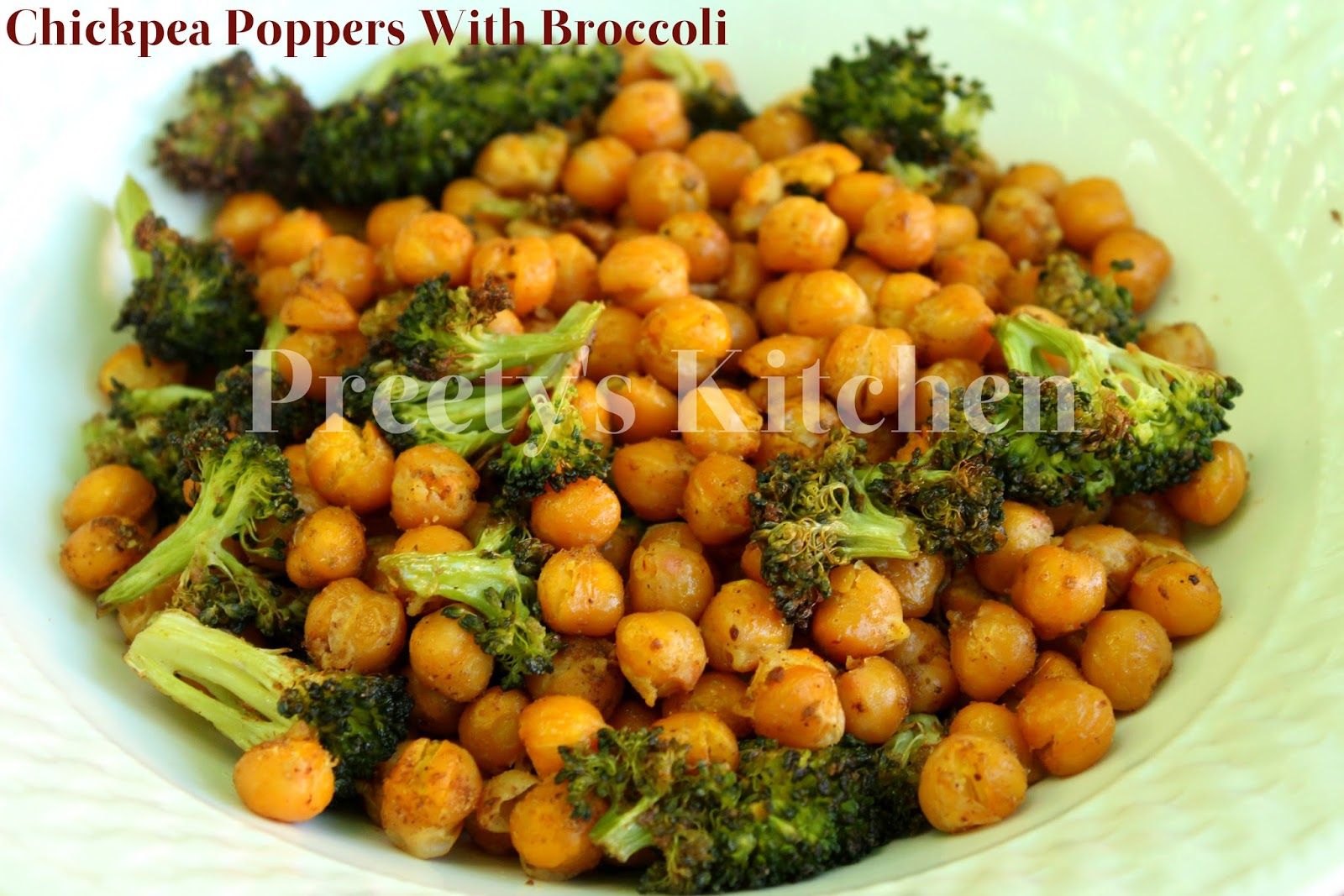 Preety's Kitchen: Chickpea Poppers With Broccoli / Easy ...