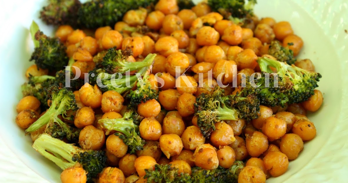 Preety's Kitchen: Chickpea Poppers With Broccoli / Easy Appetizer Or ...