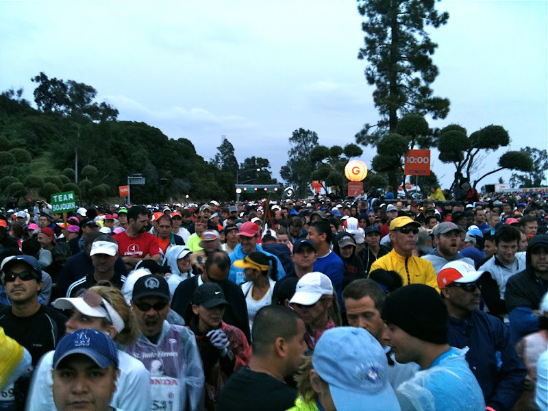 LA Marathon runner corrals