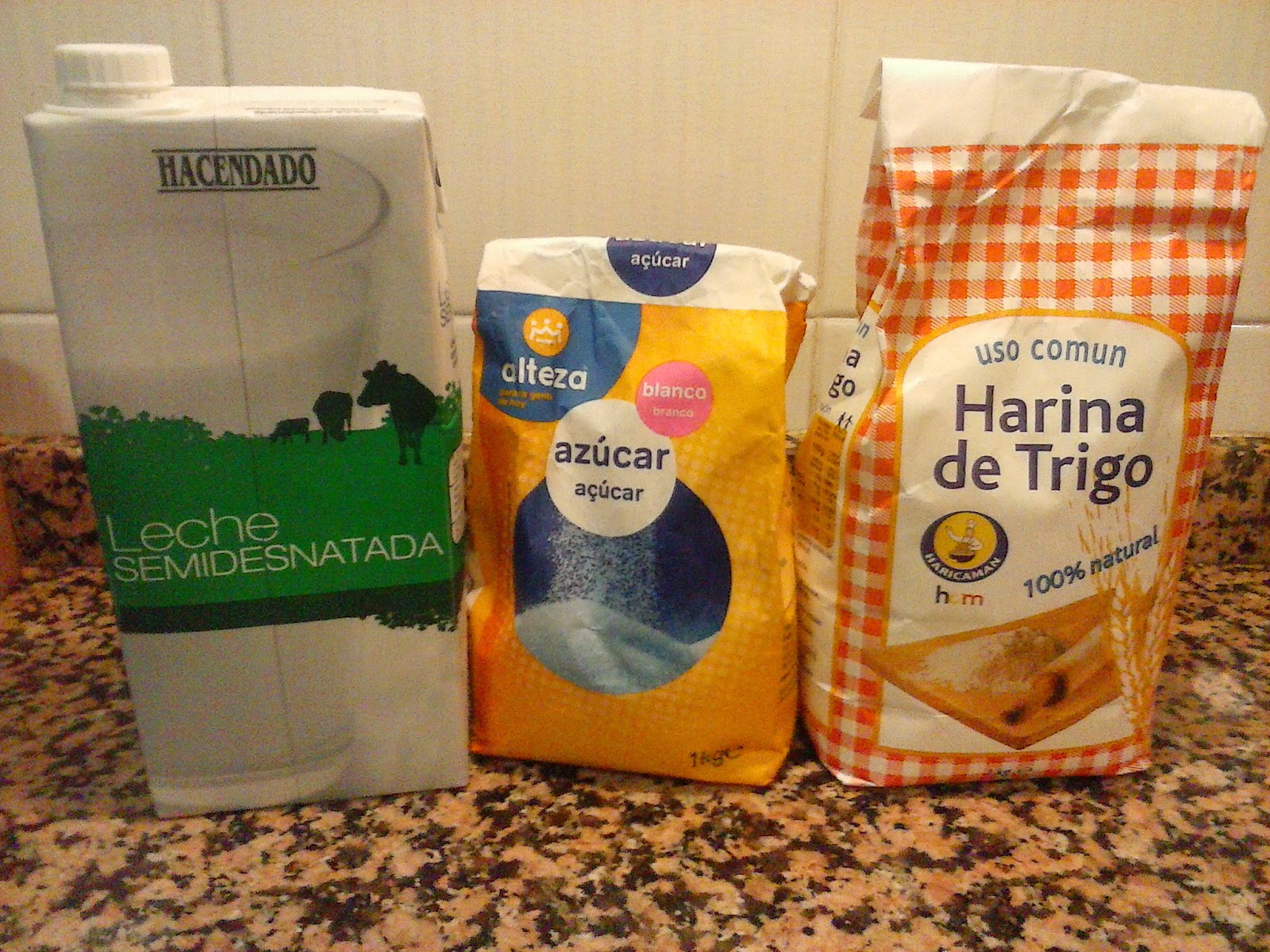 Ingredientes para hacer crepes