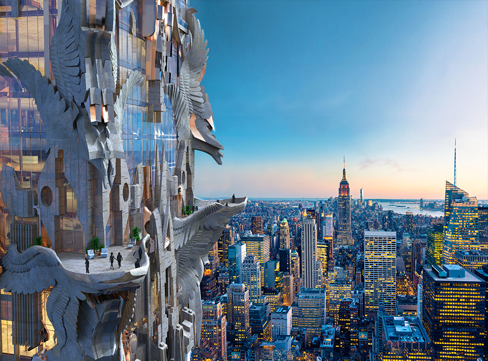 102 story residential building nyc steampunk neo art for Deco new york