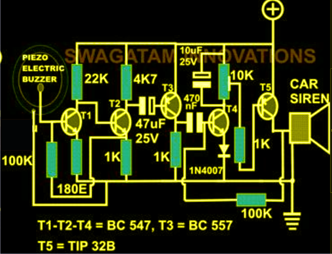 Circuits zone 187 1001 electronic project circuits - Sound Activated Alarm Circuit Electronic Circuit Projects Circuit Diagram