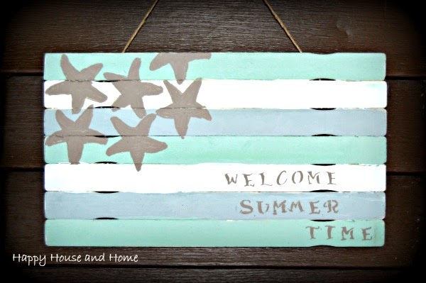 paint stick crafts, paint stick flag, DIY wooden flag, flag with sticks,