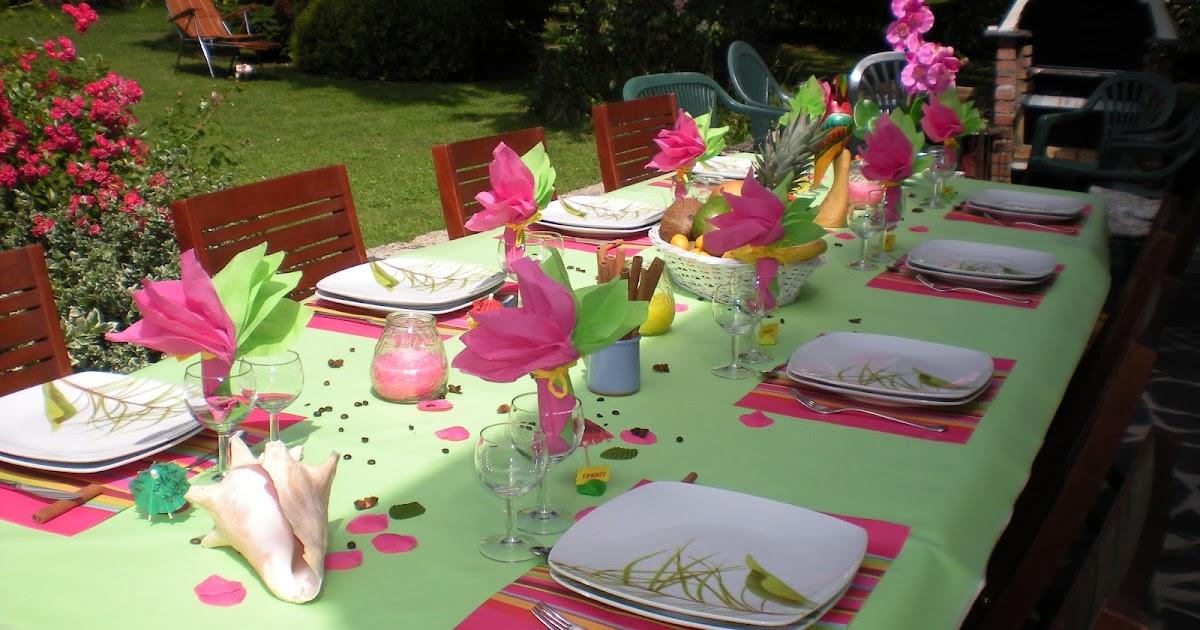 D co de table th mes d coration de table exotique - Deco table exotique ...
