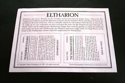 Reglas de Eltharion montado en Ala de Tormenta