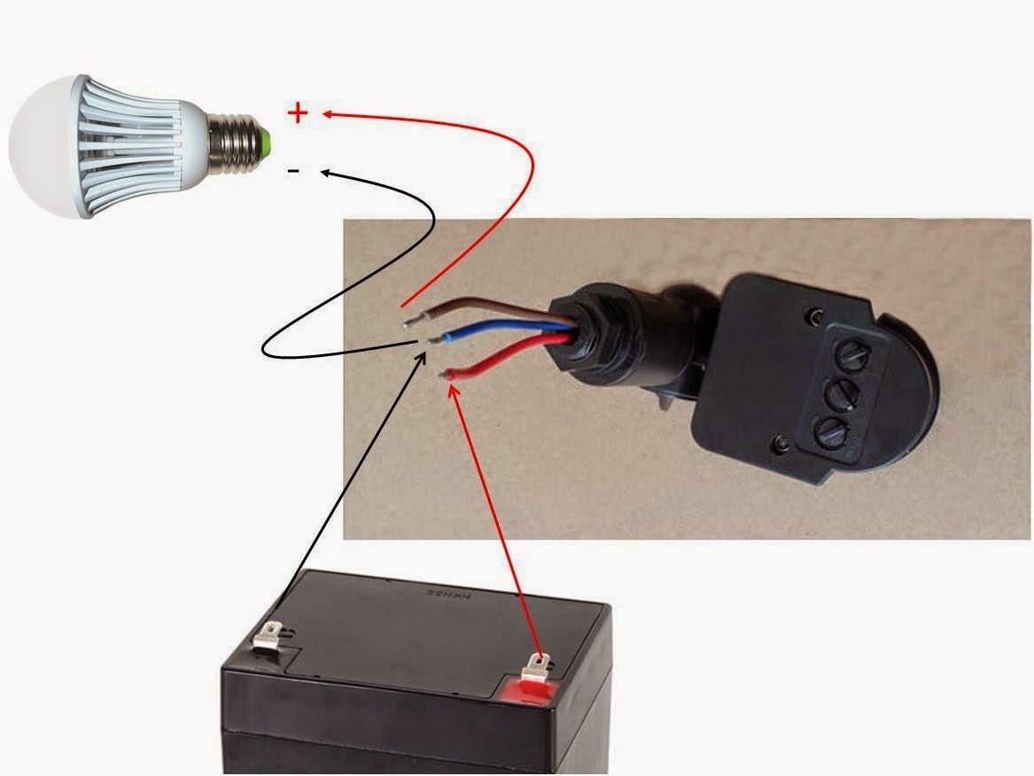 Instalar sensor de movimiento a 12v bricolage solar - Detector de movimiento para luces ...