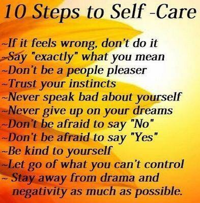 Basic steps to Self Care