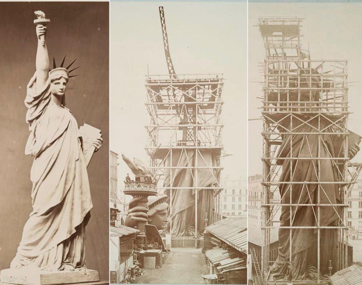 Resultado de imagen de Construyendo la Estatua de la Libertad en Paris