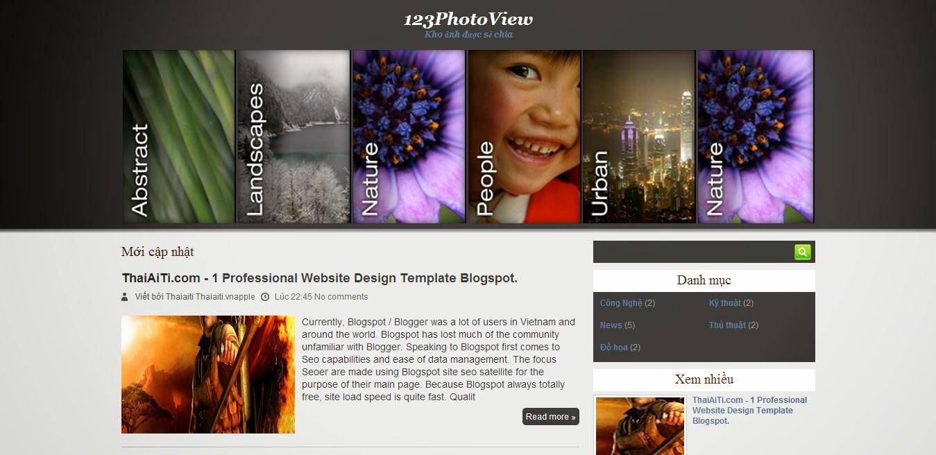 Share Template tin tức dạng 2 cột cho Blogspot