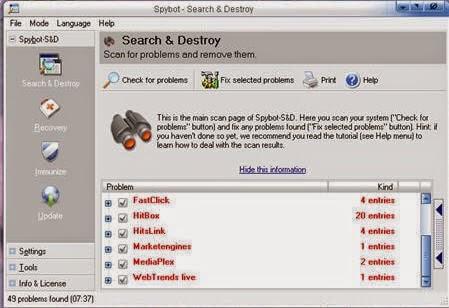 سباي بوت, برامج انتي فيروس, تحميل برنامج حذف الملفات الضارة