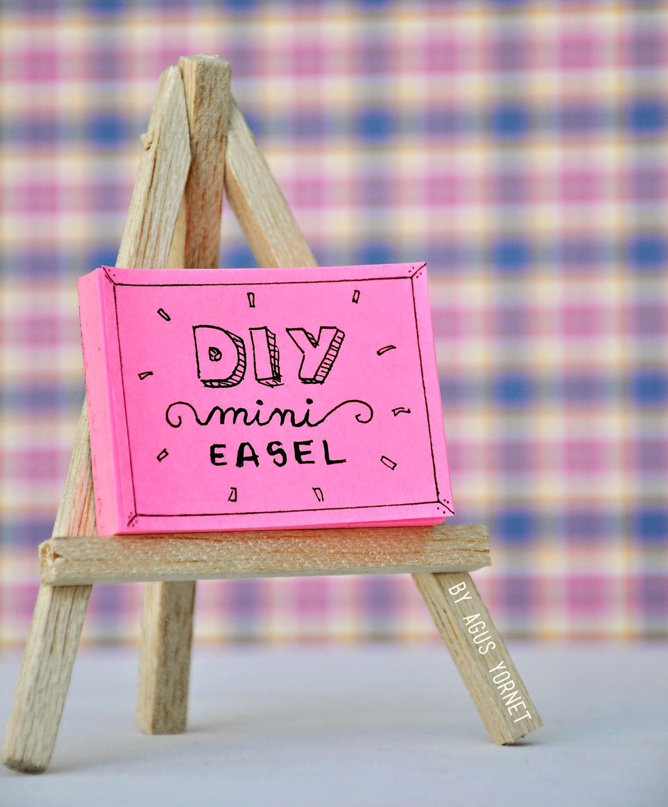 diy mini easel como hacer mini atril agus yornet blog. Black Bedroom Furniture Sets. Home Design Ideas
