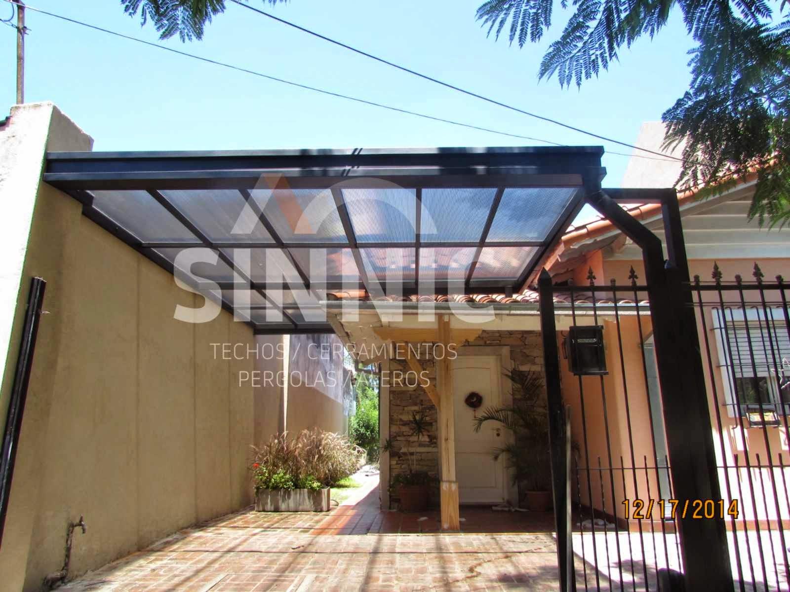 Techo de policarbonato pergolas aleros techo de for Techos de policarbonato para garage
