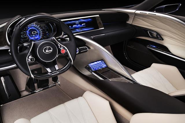 Lexus LF-LC Blue Concept abitacolo