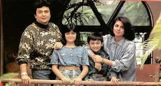 Ranbir Kapoor Childhood Image with his family