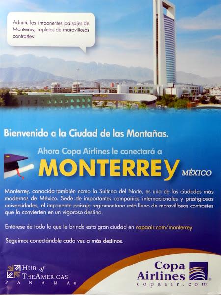 Copa airlines Monterrey Mexico