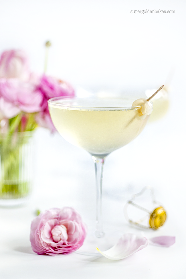 Lychee french 75 cocktail supergolden bakes for Cocktail litchi