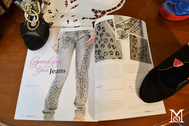 fashion diy,leopard jeans diy,painted fabric, fabric paint,altered couture, altered couture summer 2012