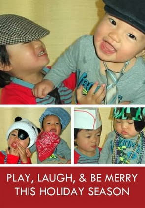 Play, Laugh, Be Merry Holiday card 2009