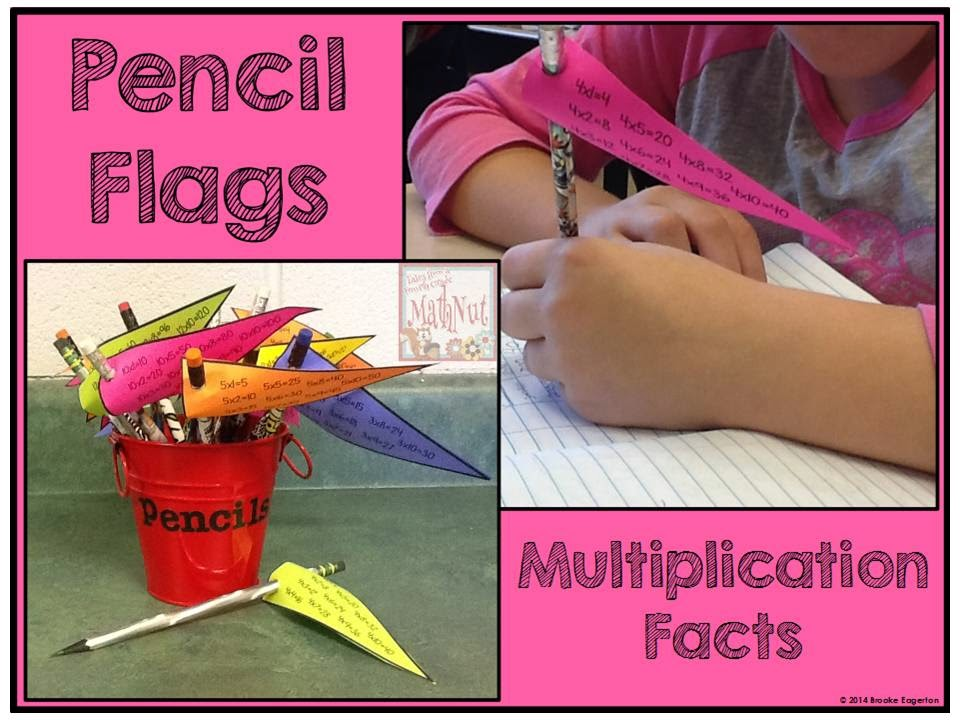 http://www.teacherspayteachers.com/Product/Pencil-Flags-Multiplication-Facts-1567230