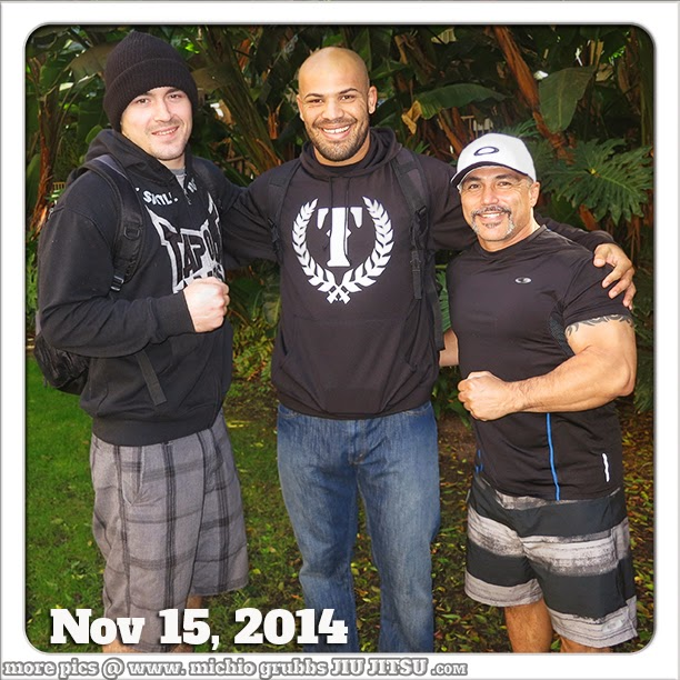 At the Bellator MMA event in San Diego Bubba Pugh with Ray Sloan and Michio Grubbs