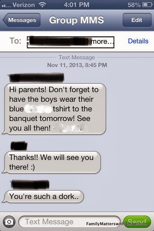Funny Parent Text Message