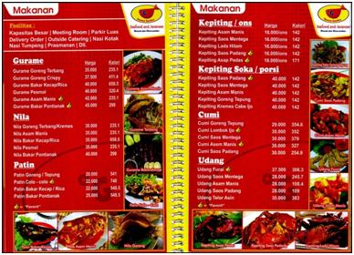 malang restoran yang berada di jl soekarno hatta no 83 blimbing ini menyajikan banyak menu sea food antara lain menu ikan gurami kepiting cumi - Ocean Garden